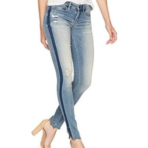 NEW Blank NYC Skinny Classique Jeans Two Tone Raw